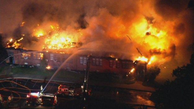 Massive Fire Rips Through Delco Catholic School