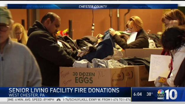 Donations Delivered for Seniors Displaced by Massive Fire