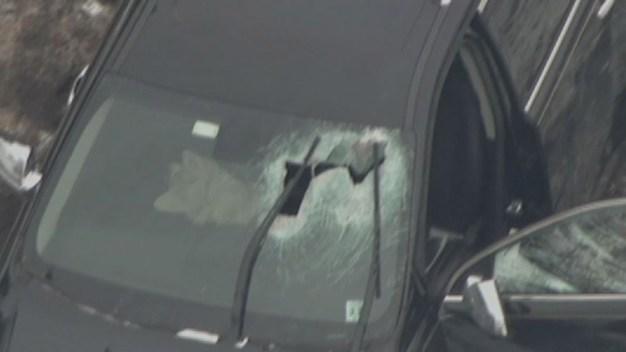 50-Pound Weight Hits Windshield, SUV Crashes on NJ Turnpike
