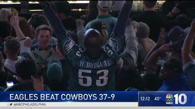 Eagles Fans Celebrate Big Win Over Cowboys