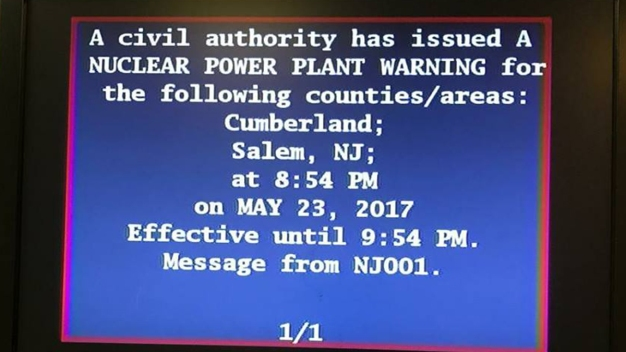 False Nuclear Plant Alert Accidentally Sent to NJ Residents