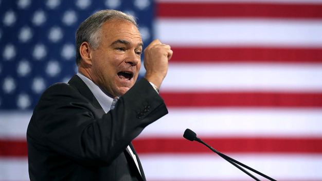 Tim Kaine Stumps for Hillary Clinton at Local Colleges