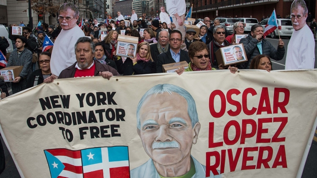 Puerto Rican Community Reacts to Oscar Lopez Rivera's Release from Prison