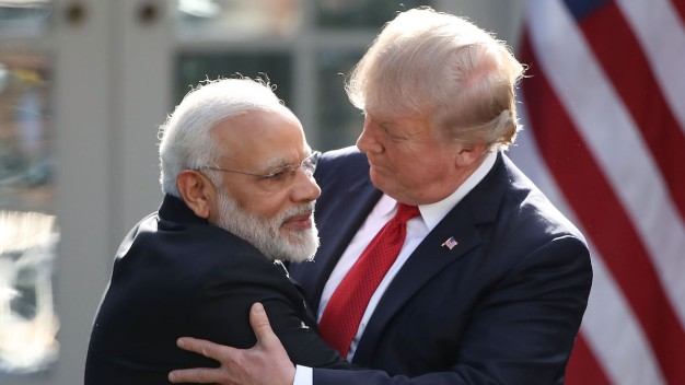 Trump, Modi Exchange Hugs During Rose Garden Statements