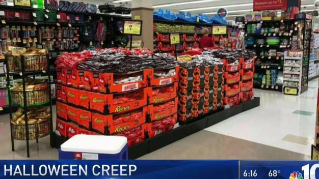 Halloween Candy Displays Before School Starts?
