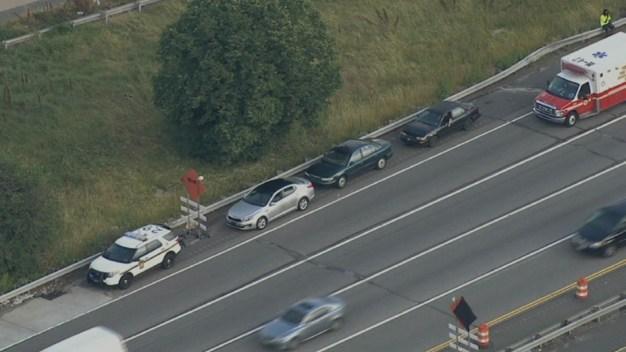 Multi-Car Crash on I-95 in Philadelphia
