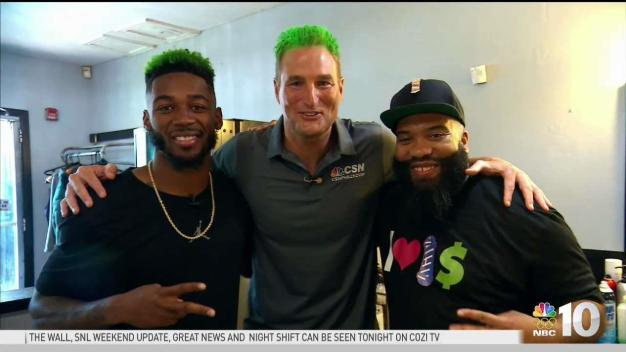 Eagles CB Gets Green Hairdo