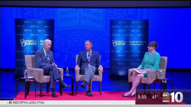 Joe Biden and John Kasich Speak at University of Delaware