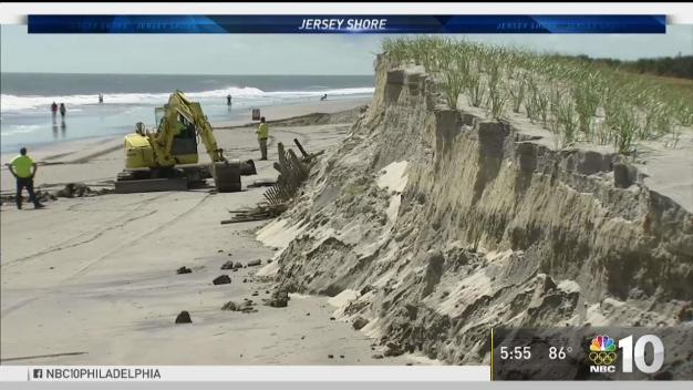 Jose Causes Beach Erosion at the Shore