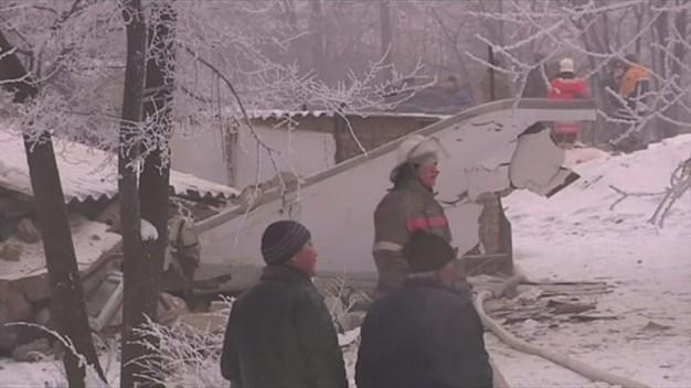 Cargo Plane Hits Kyrgyzstan Neighborhood
