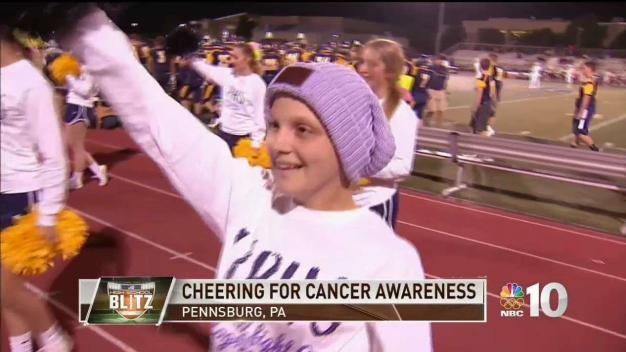 Montco Squad Shows Support for Cheerleader Fighting Cancer