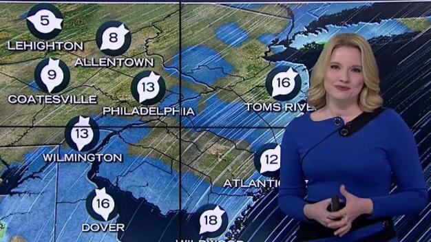 NBC10 First Alert Weather Heavier Snow Falling