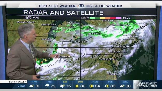 NBC10 First Alert Weather: Tracking Showers
