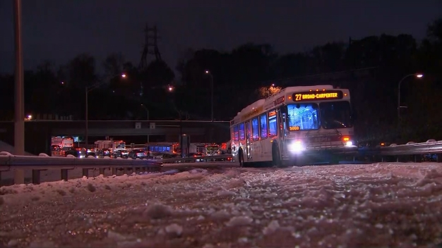 Snowstorm Leads to Nightmare Commute Across the Region