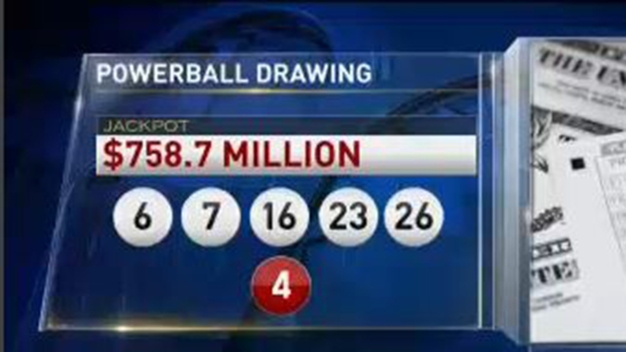 Numbers for $758 Million Powerball Jackpot Revealed