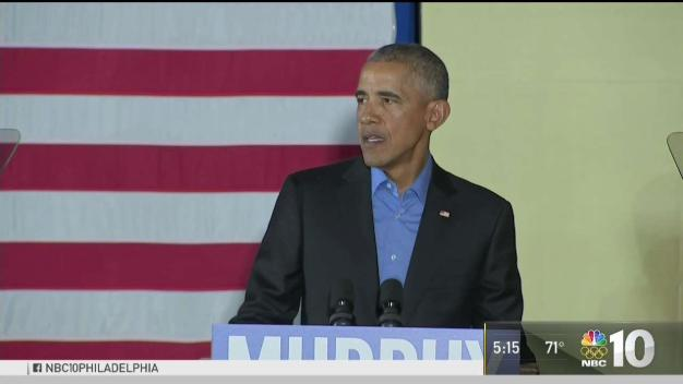 President Obama Speaks in New Jersey