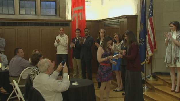 Temple Student Walks During Ceremony a Year After Surviving Hit-and-Run