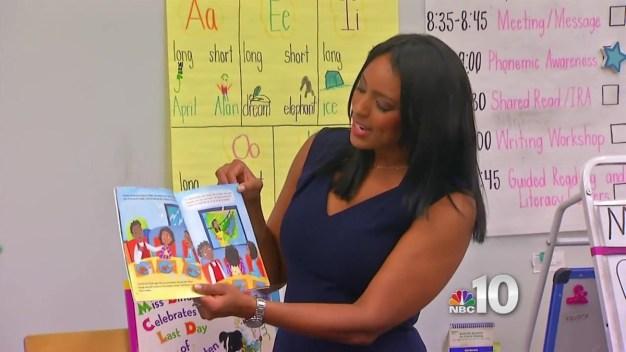 NBC10's Brittney Shipp Reads Book to Children
