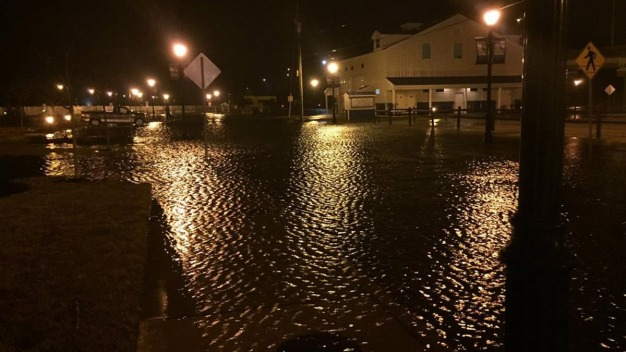 Flooding at the Jersey Shore After Nor'easter and High Tide