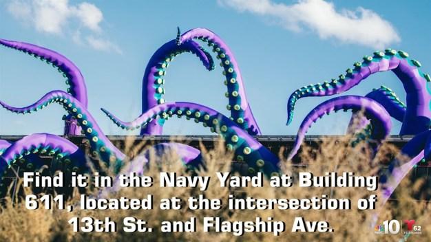 'Sea Monsters HERE': Gigantic Navy Yard Artwork Engulfs Building