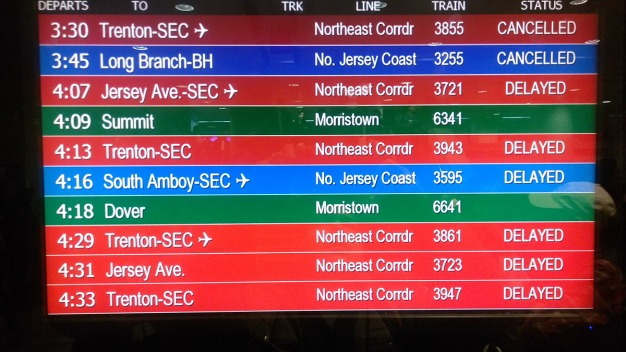 Service Delays for Amtrak, NJ Transit, SEPTA