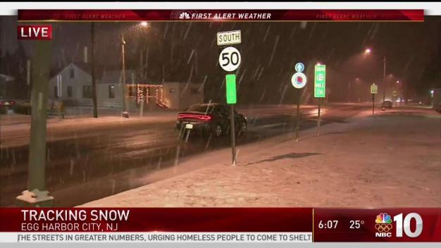Snow Covers South Jersey