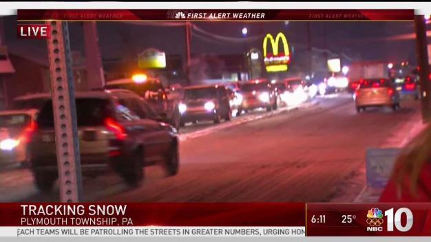 Snow Hits the Philadelphia Suburbs