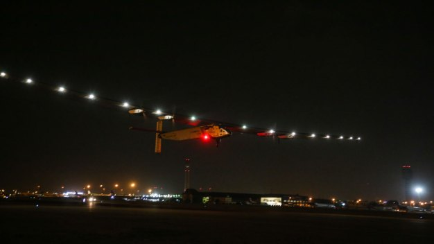 Solar Plane Leaves Cairo for Last Leg of Trip