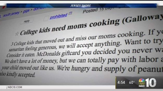 Students' Ad for Home Cooked Meals Turns Into Hurricane Relief Efforts