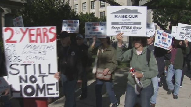 Sandy Victims Protest at State Capitol