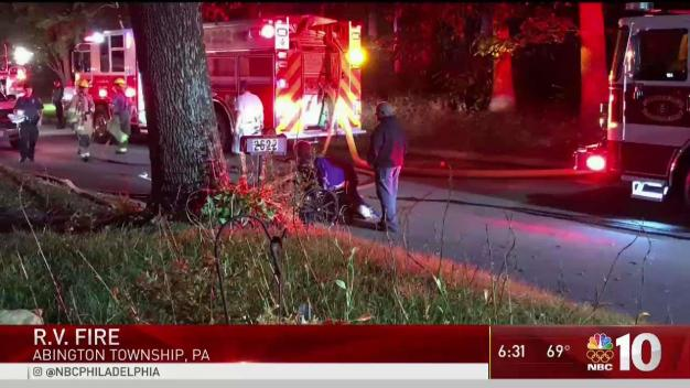 2 Escape Montco RV Fire Leaves