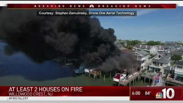 Two Wildwood Crest Homes Go Up in Flames