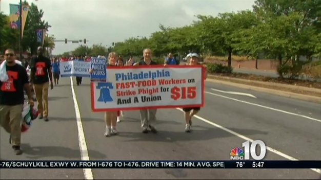 Fast Food Workers March in Labor Day Parade