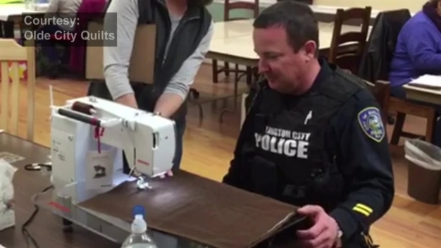 WATCH: Officers Make Quilts After Responding to Medical Emergency