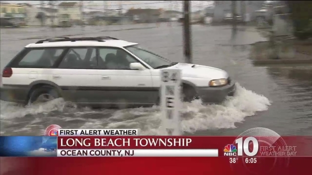 Coastal Flooding Hits Jersey Shore
