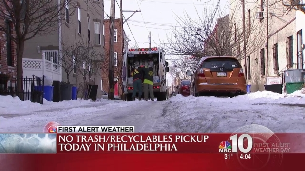 Snow Knocks Out Trash Pickup