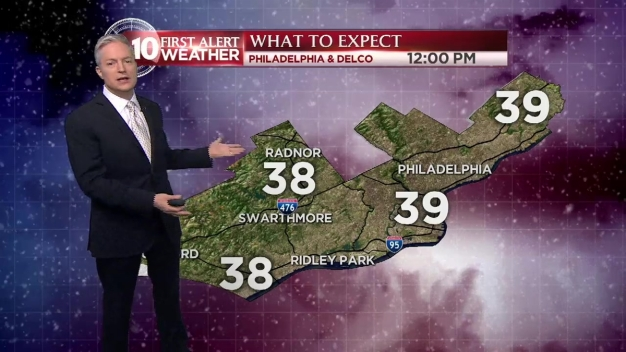 NBC10 First Alert Weather: Spotty Snow, Rain