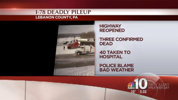 Part of I-78 Reopens 16 Hours After Deadly 50-Vehicle Pileup