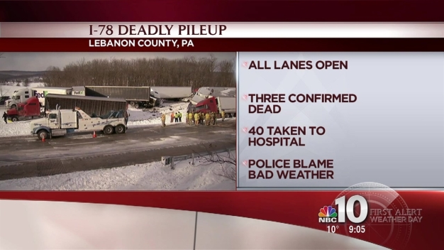 I-78 Reopens After Deadly 50-Vehicle Pileup