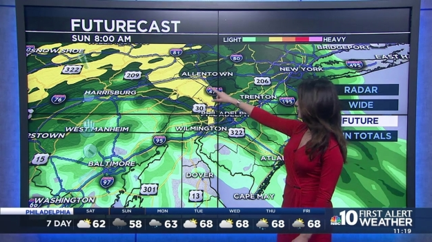 Sheena Parvin With Your Weekend Forecast and a Rainy Broad Street Run