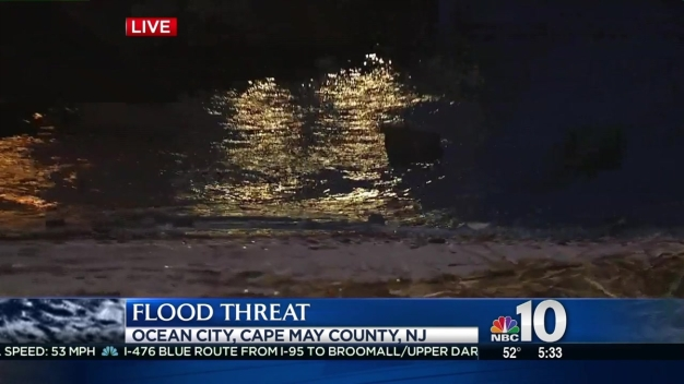 Flood Threat at Jersey Shore