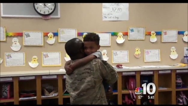New Jersey Soldier Surpirses All 3 Children With Welcome Home School Visits