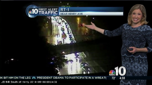 First Alert Traffic: Crash Snarls Route 1 Traffic, Rain Floods Roads