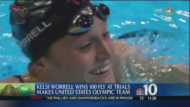 Kelsi Worrell Wins 100 Fly at Trials and Makes US Olympic Team