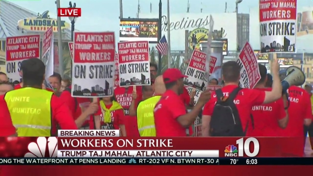 Nearly 1,000 Workers Striking in Atlantic City