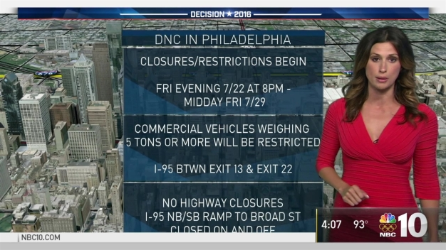 Traffic Restricted Ahead of DNC