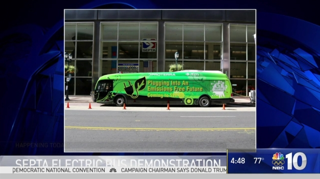 SEPTA Demonstrates New 'Green' Bus