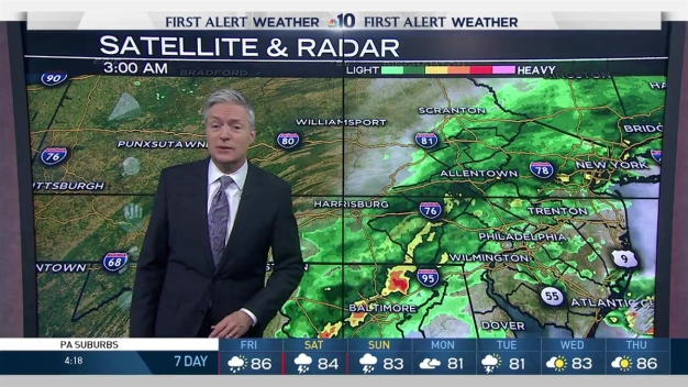NBC10 First Alert Weather: Rainy Morning, Sunshine Later