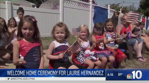 New Jersey Honors Olympic Gymnast Laurie Hernandez