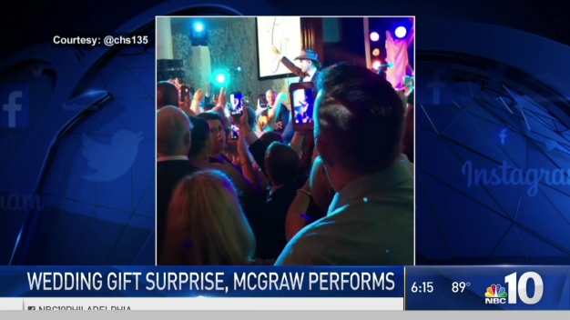 Tim McGraw Gives Surprise Performance at Philly Wedding